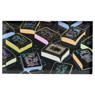 Titular do cartão dos dragões do Mah Jongg Suportes Para Cartões De Mesa