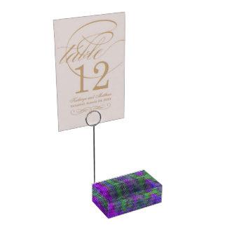 Titular do cartão geométrico abstrato da mesa suportes para cartões de mesas