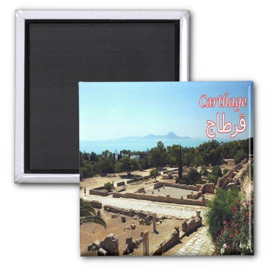 TN - Tunísia - Carthage - ruínas Ímã Quadrado