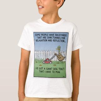 Toalete do cão camiseta