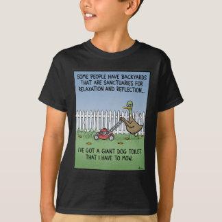 Toalete do cão t-shirt