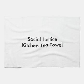Toalha de chá da cozinha de justiça social