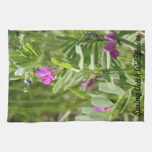 Toalha de cozinha do Wildflower da ervilhaca de pr