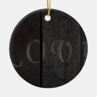toalha de cozinha ornamento de cerâmica redondo