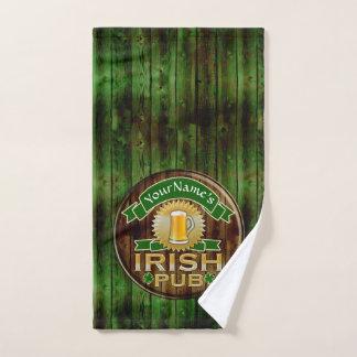 Toalha De Mão Dia de São Patrício irlandês do sinal do bar do