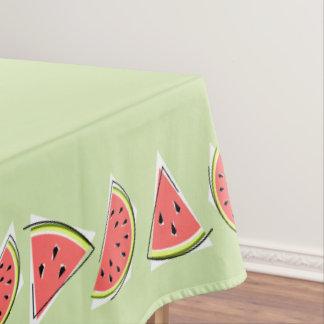 Toalha De Mesa A melancia remenda a beira verde do tablecloth