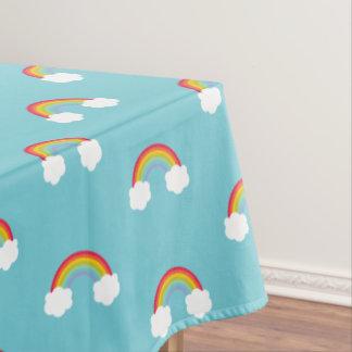 Toalha De Mesa Arco-íris retro e aniversário de criança das