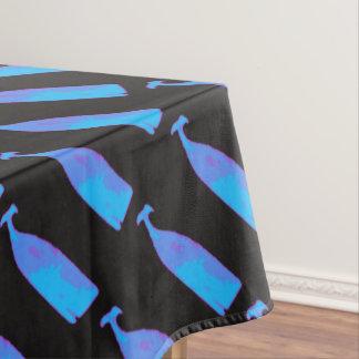 Toalha De Mesa baleias azuis em alguma cor