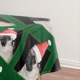 Toalha De Mesa Cão do pug do Natal