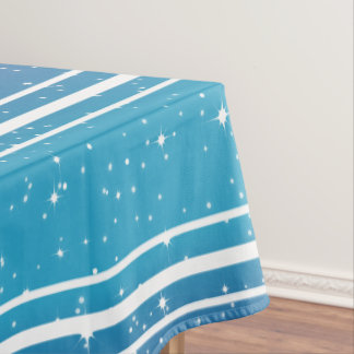 Toalha De Mesa Estrelas simples/fundo azul Tablecloth2 do