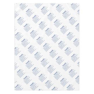 Toalha De Mesa Fêmea no azul