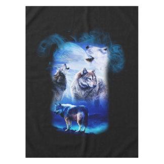 Toalha De Mesa Montanha da lua do lobo da fantasia