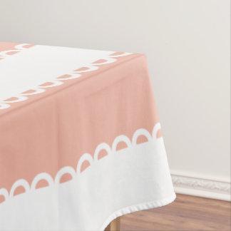 Toalha De Mesa Pêssego doce da loja e fitas brancas
