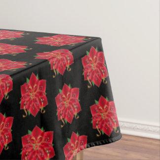 """Toalha De Mesa Poinsétias vermelhas do Tablecloth """"60x84"""""""