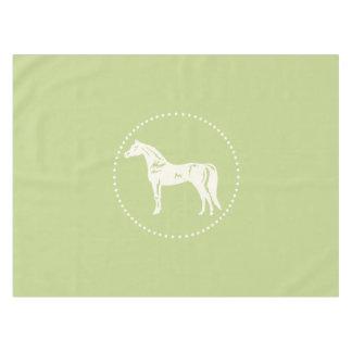 Toalha De Mesa Silhueta árabe do cavalo