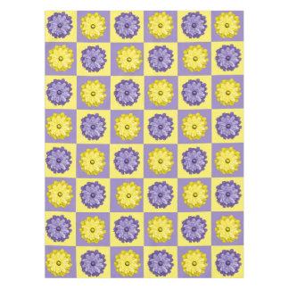 Toalha De Mesa Tablecloth amarelo e roxo do primavera das flores