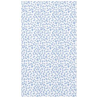 """Toalha De Mesa Tablecloth azul 60"""" do algodão das bolinhas x 104"""""""