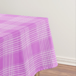 Toalha De Mesa Tablecloth Checkered da xadrez roxa e branca