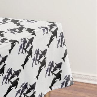 Toalha De Mesa Tablecloth da arte da baleia de assassino do