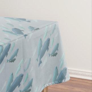 Toalha De Mesa Tablecloth da arte da baleia do Tablecloth da