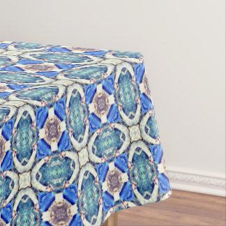 Toalha De Mesa Teste padrão azul Thunder_Cove dos corações da