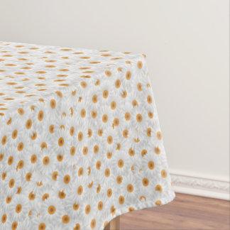 Toalha De Mesa Teste padrão de flor branco da camomila