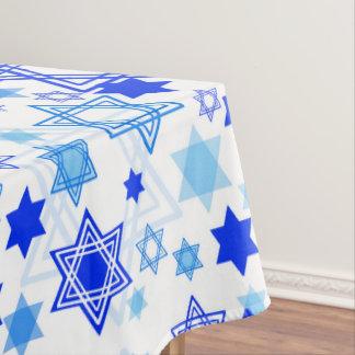 Toalha De Mesa Teste padrão de Hanukkah da estrela de David