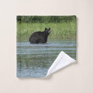 Toalha De Rosto Pano da lavagem do urso preto
