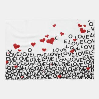 Toalha do amor do dia dos namorados