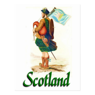 Tocador de gaita-de-foles de Scotland Cartão Postal
