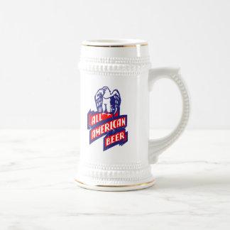 Toda a cerveja americana caneca de cerveja
