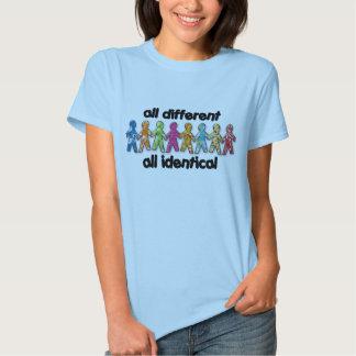 toda diferente camiseta