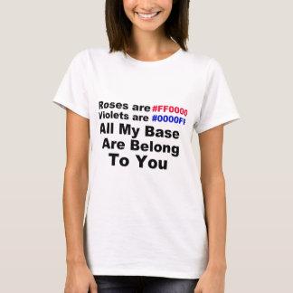 Toda minha base é lhe pertence camiseta