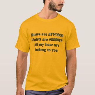 Toda minha base é t-shirts