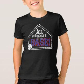 Toda sobre a base - tshirt do basebol (miúdos)