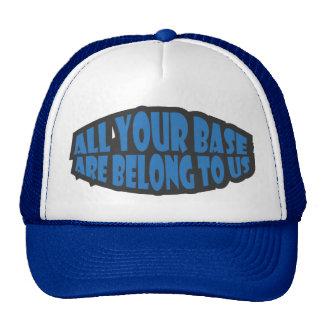 Toda sua base é nos pertence chapéu boné