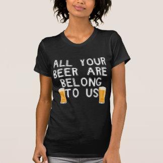 toda sua cerveja é nos pertence camiseta