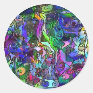 Todas as cores com redemoinhos e linhas adesivo