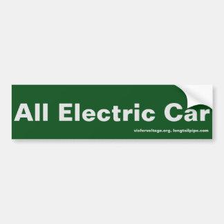 Todo o carro elétrico - autocolante no vidro adesivo para carro