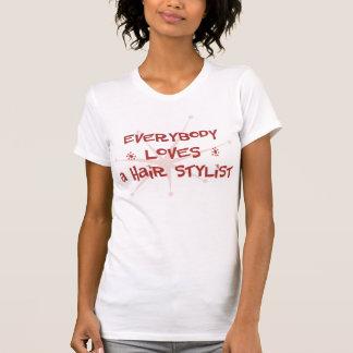 Todos ama um cabeleireiro tshirt