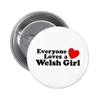 Todos ama uma menina de Galês Bóton Redondo 5.08cm
