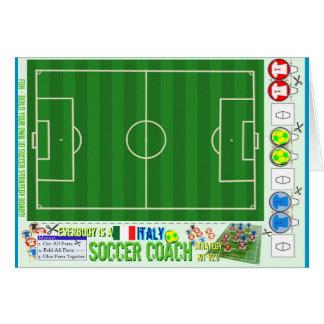 Todos é um jogo Italia da estratégia do treinador  Cartão
