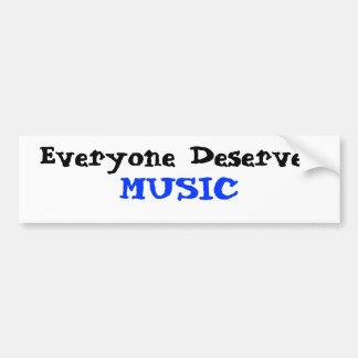 Todos merece a música adesivo para carro