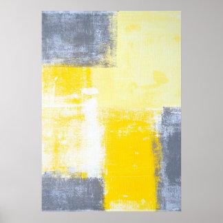 """""""Todos os ângulos"""" cinzentos e arte abstracta Poster"""