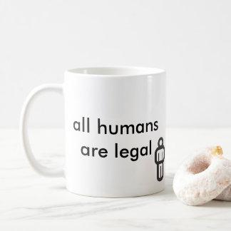 todos os seres humanos são legais caneca de café