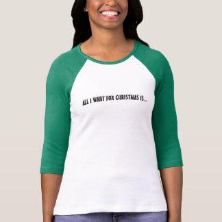 Todos querem o CAFÉ do Natal! Basebol/camisa do Tshirts