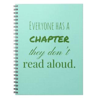 """""""Todos tem um capítulo. """" Cadernos"""