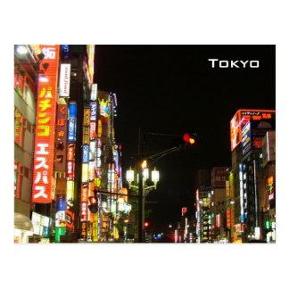 Tokyo em a noite cartão postal