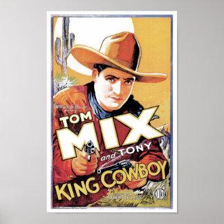 Tom Mix - rei Vaqueiro Poster Pôster