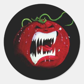 Tomate do assassino adesivo em formato redondo